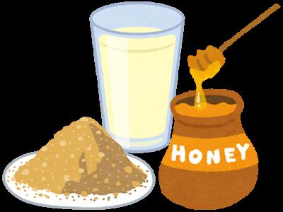 きな粉ハチミツ牛乳