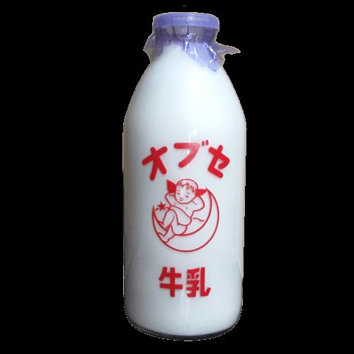 オブセ牛乳(大ビン)_正面