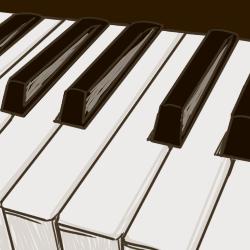 カゼインプラスチック鍵盤