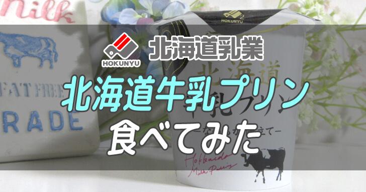 北海道乳業-北海道牛乳プリン食べてみた_001