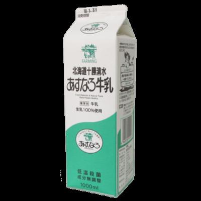 北海道十勝清水-あすなろ牛乳1_正面