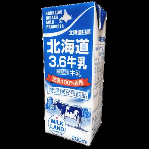 北海道日高北海道3.6牛乳の拡大画像