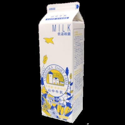 北海道赤井川村-山中牛乳(紙パック)_正面