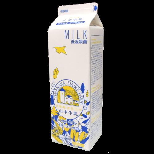 北海道赤井川村-山中牛乳(紙パック)の拡大画像