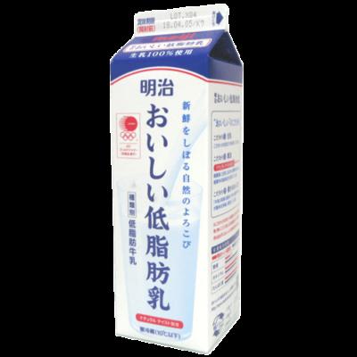 明治おいしい低脂肪乳_正面