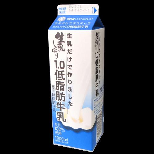 生乳だけで作りました-生乳搾り1.0低脂肪牛乳の拡大画像