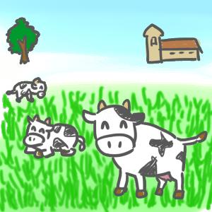 良い環境で飼育される乳牛たち