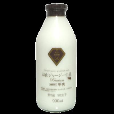 蒜山ジャージー牛乳プレミアム5.0(瓶)_正面