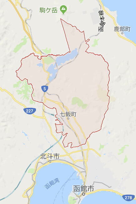 七飯町の地図