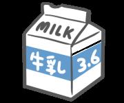 3.6と書かれた牛乳パックのイラスト